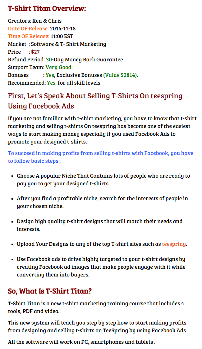 T shirt titan 1 0 review great bonuses discount facebook for T shirt ads on facebook