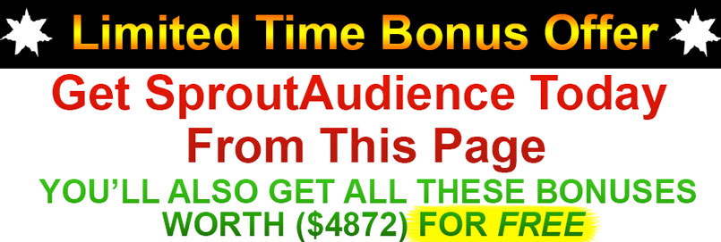 SproutAudience Discount