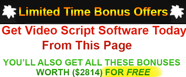 Video Script Software Bonus
