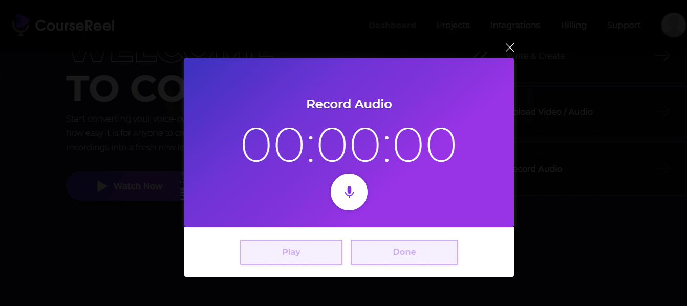 Record Audio With CourseReel