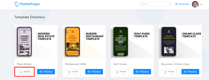 Mobile Pages DFY Templates