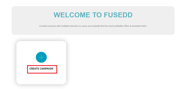 Create a campaign with Fusedd