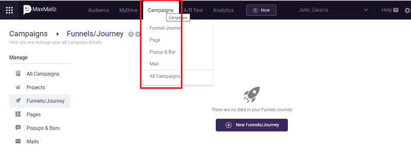 How To Create a funnel/journey Step-By-Step With MarketPal