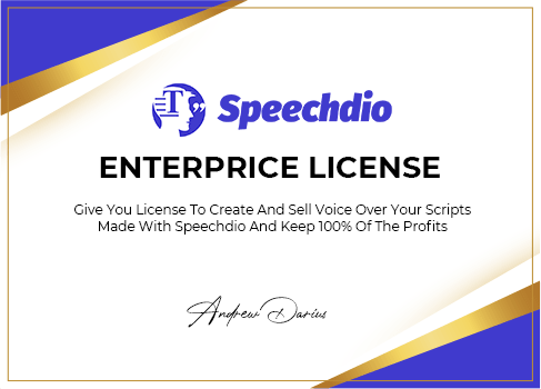 Speechdio Enterprise License