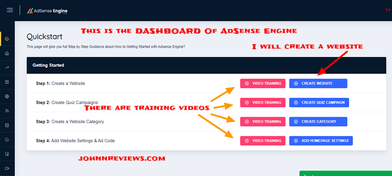 How To create Adsense Sites With AdSense Engine