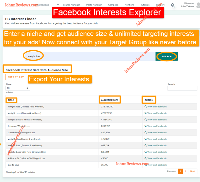 Find Hidden Facebook Interests With Viral Dashboard