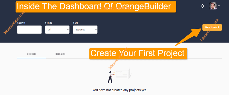 Inside The Dashboard Of OrangeBuilder