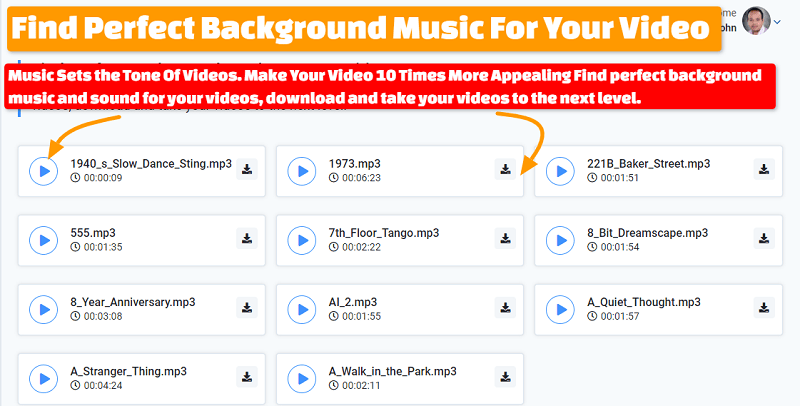 Find Background Music For Your Video With VideoMan