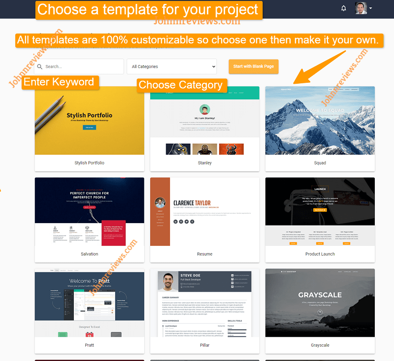 Create Landing Pages Pages With OrangeBuilder