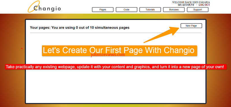How To edit and use ANY page With Changio