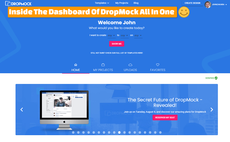 Create beautiful designs and videos With DropMock All In One