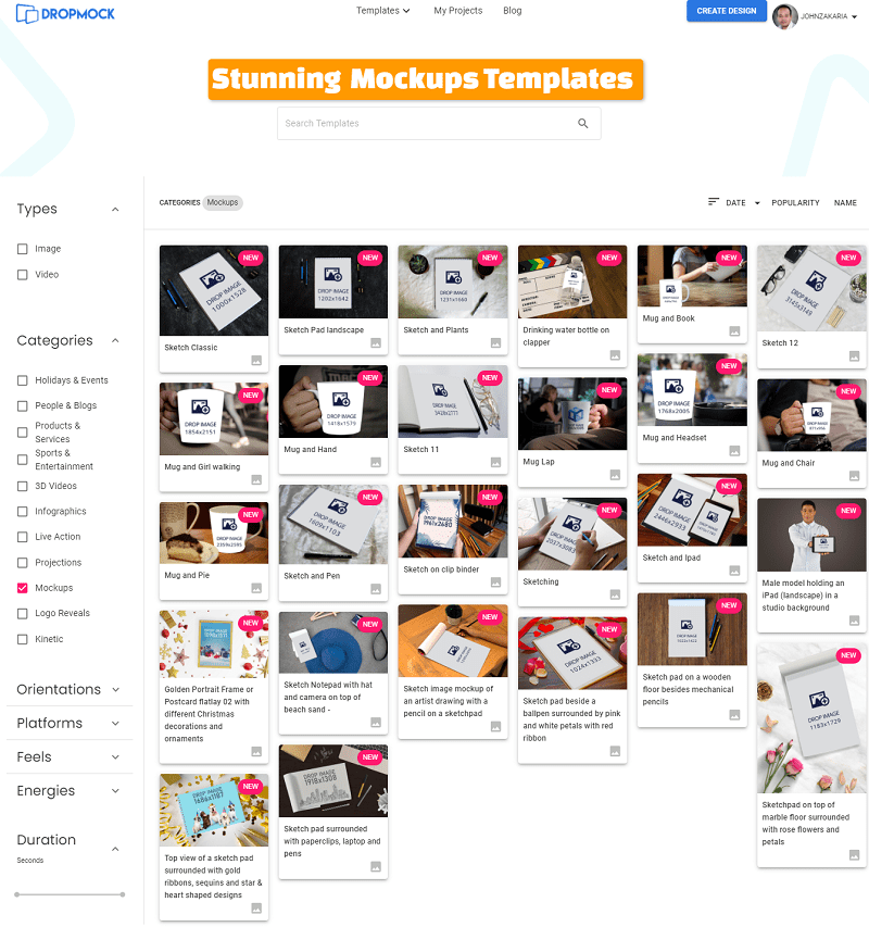 DropMock All In One Mokups Templates
